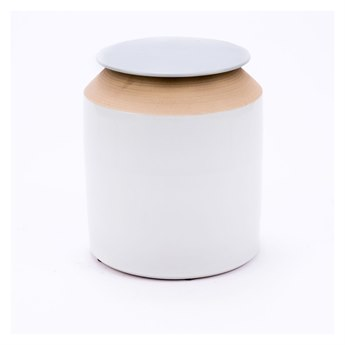 Legend of Asia Matte White Large Matt Lidded Jar