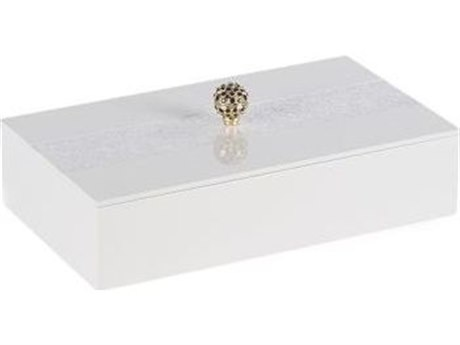 Legend of Asia White Nair Decorative Box with Lid
