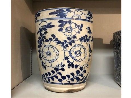 Legend of Asia Vintage Blue & White Circa 1900 Floral Pot