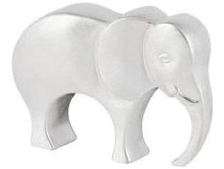 Legend of Asia Silver Borneo Elephant Sculpture