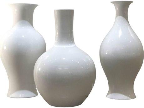 Legend of Asia White Bud Vases (Set of 3)