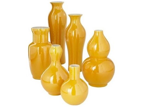 Legend of Asia Yellow Assorted Vases (Set of 3)