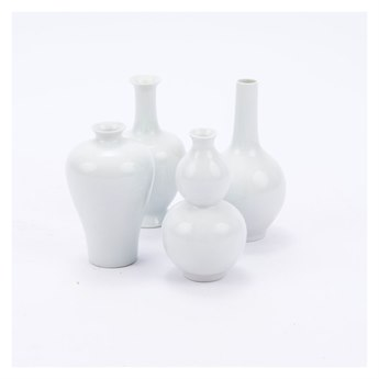 Legend of Asia White Bud Vases (Set of 4)