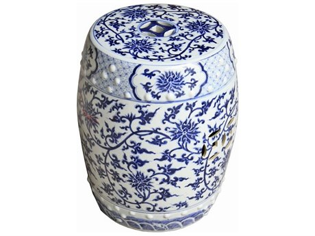 Legend of Asia Blue & White Garden Stool
