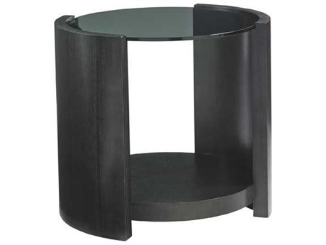 Lexington Carrera Carbon Gray Oval End Table LX911950