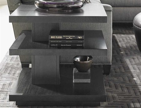 Lexington Carrera Carbon Gray Square End Table LX911953