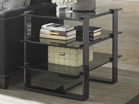 Lexington Carrera Carbon Gray Rectangular End Table