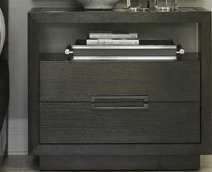 Lexington Carrera Carbon Gray Rectangular 2 Drawers Nightstand