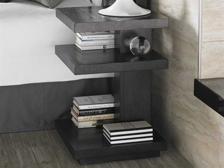 Lexington Carrera Carbon Gray Square No Drawers Nightstand LX911623