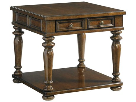 Lexington Coventry Hills Rustic Cherry Square End Table