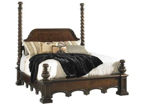 Lexington Florentino Dark Walnut Queen Poster Bed