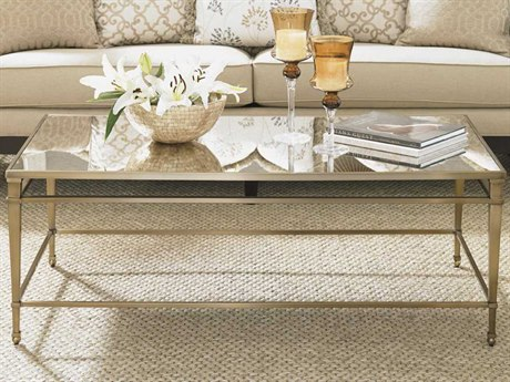 Lexington Kensington Place Oxford Brown Rectangular Coffee Table