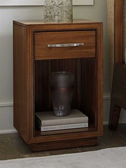 Lexington Kitano Rich Brown Hazelnut Rectangular 1 Drawer Nightstand