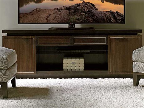 Lexington Macarthur Park Warm Mocha Brown Walnut TV Stand LX010729907