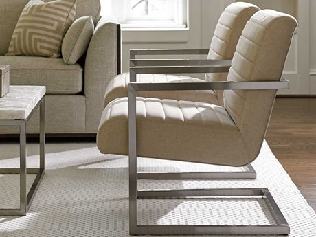 Lexington Macarthur Park Brushed Stainless Steel Accent Chair