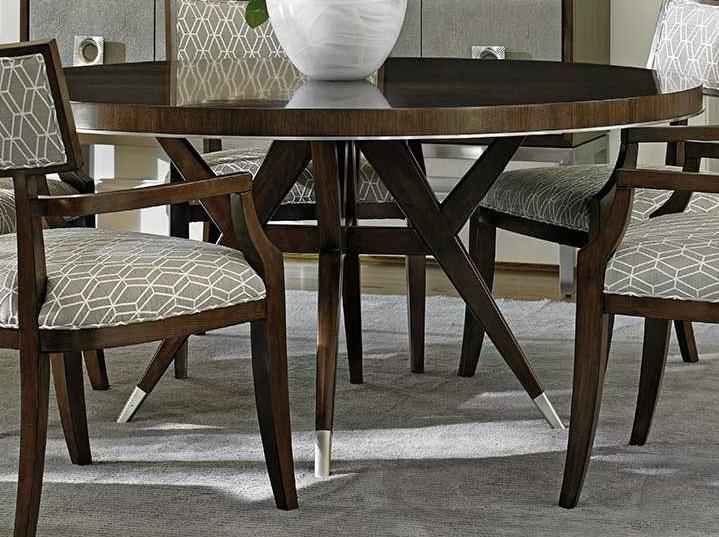 lexington dining room table   Lexington Macarthur Park Walnut Round Dining Table ...