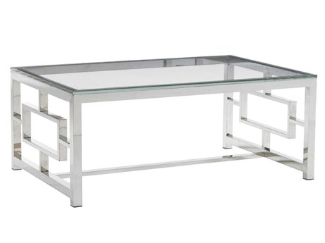 Lexington Mirage Polished Silver Rectangular Coffee Table