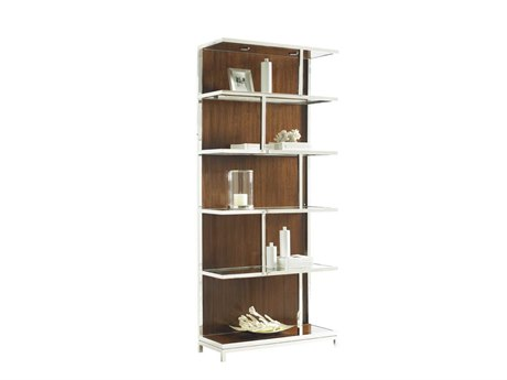 Lexington Mirage Polished Silver Bookcase