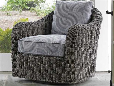 Lexington Oyster Bay Misty Gray Swivel Accent Chair