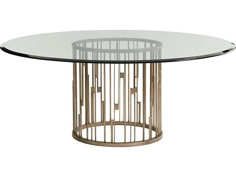 Lexington Shadow Play Burnished Silver Leaf Round Dining Table LX010725875B072GT