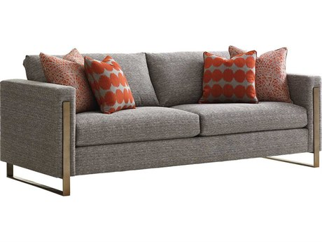 Lexington Shadow Play Burnished Silver Leaf Sofa Couch