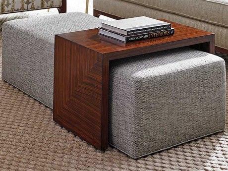 Lexington Take Five Hazelnut Coloration on Rosewood Veneer Ottoman LX178425T