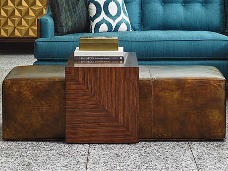 Lexington Take Five Hazelnut Coloration on Rosewood Veneer Ottoman LXLL178425T
