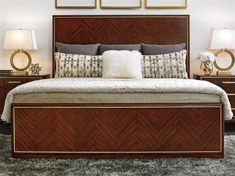 Lexington Take Five Zebrano King Panel Bed