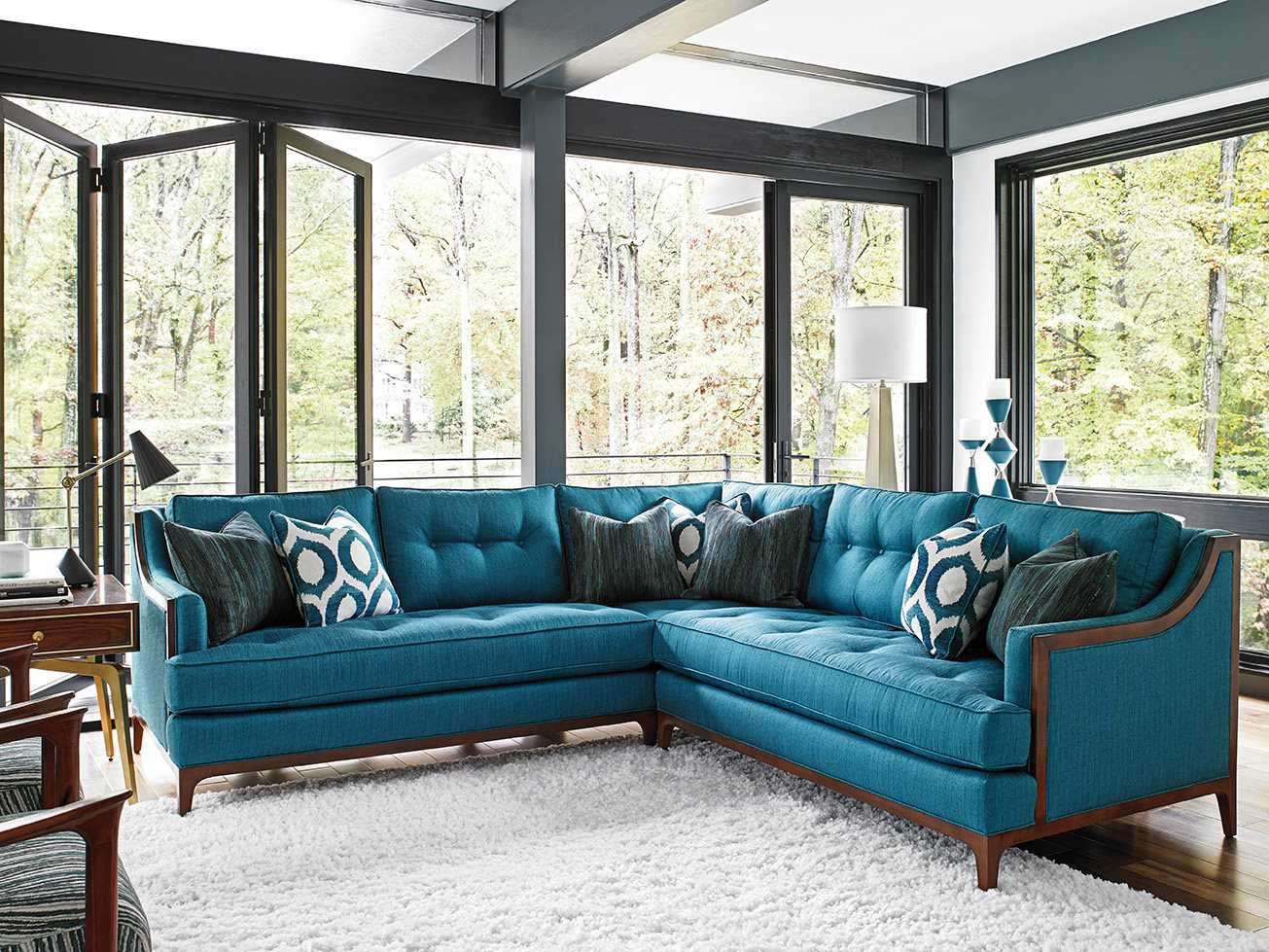 Take Five Rosewood Sectional Sofa