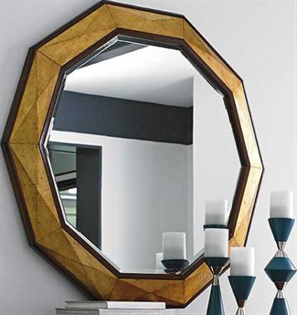 Lexington Take Five Hand Burnished Gold Leaf Wall Mirror LX010723201
