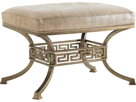 Lexington Tower Place Gold Leaf Metal Ottoman LX749244AA