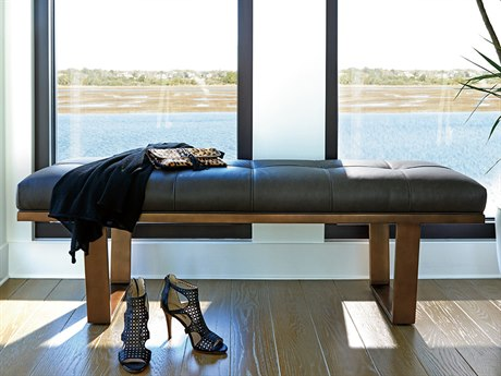 Lexington Zavala Available only as shown - Stainless Steel Accent Bench LX182825