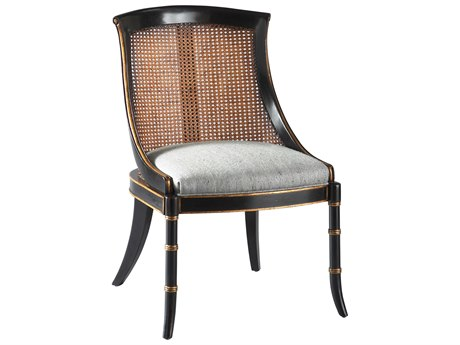 Lillian August Casegoods Ebony / Gold Side Dining Chair