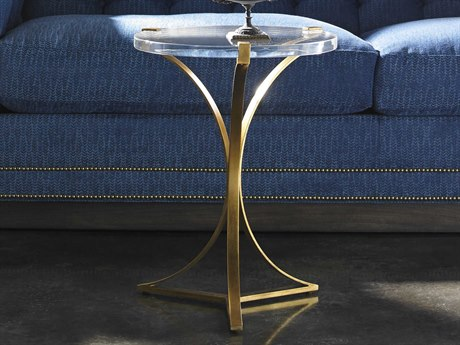 Lillian August Casegoods Acrylic / Aged Gold 18'' Wide Round End Table