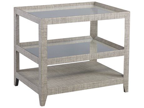Lillian August Casegoods Clear / Grey-beige 30'' Wide Rectangular End Table
