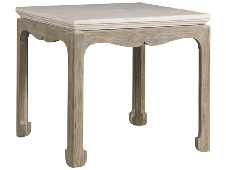 Lillian August Casegoods White Stone / Weathered Wood 26'' Wide Square End Table