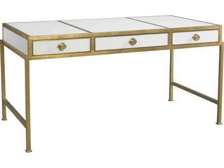 Lillian August Casegoods Off-white / Gold Leaf Secretary Desk