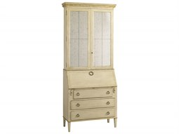 Casegoods Antique Linen / Aged Gold Secretary Desk