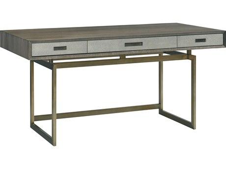 Lillian August Modern Living Grey / Light Shagreen Brushed Brass Secretary Desk