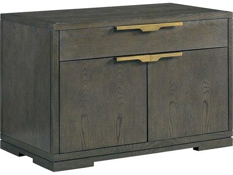 Lillian August Casegoods Dark Nickel / Brass One-Drawer Nightstand