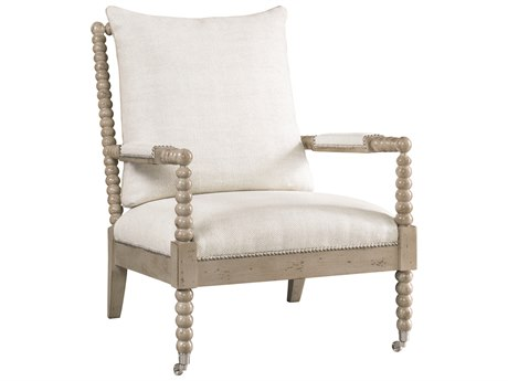Lillian August Upholstery Rolling Accent Chair