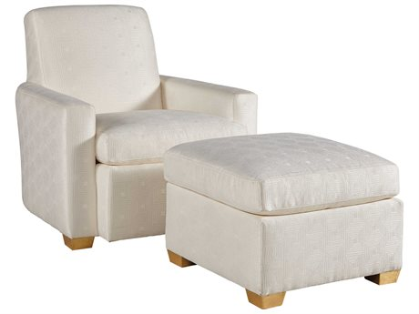 Lillian August Upholstery Chair and Ottoman Set