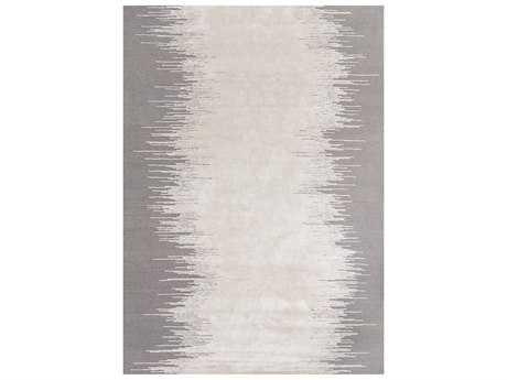 Linie Design Noam White & Light Grey Rectangular Area Rug LDNOAMLIGHTGREY
