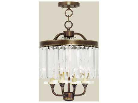 Livex Lighting Ashton Palacial Bronze Four-Light 13'' Wide Chandelier LV5054364