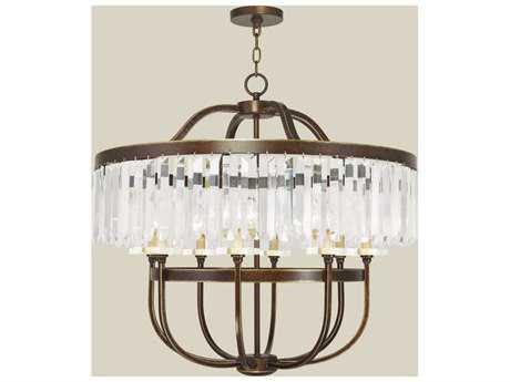 Livex Lighting Ashton Palacial Bronze Eight-Light 31.75'' Wide Chandelier LV5054964
