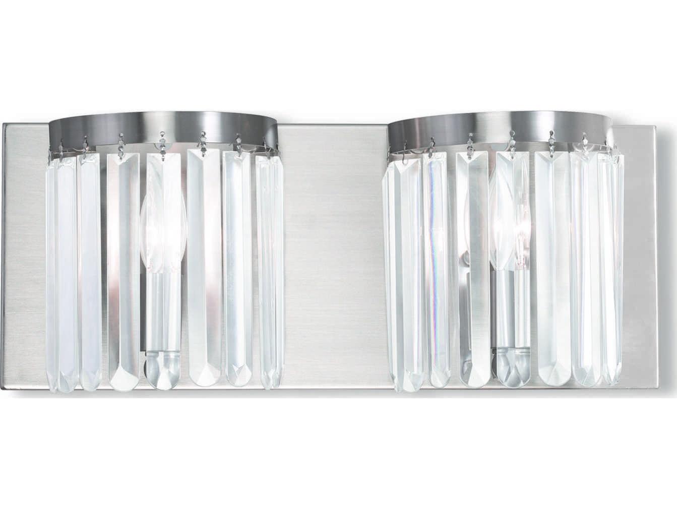 Livex 2 Light Bathroom Vanity Lighting Fixture Brushed: Livex Lighting Ashton Brushed Nickel Two-Light Bath Light