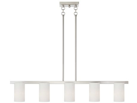 Livex Lighting Astoria Brushed Nickel Five-Light 43.75''Wide  Island Light LV132791
