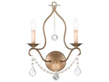 Livex Lighting Chesterfield Antique Gold Two-Light Wall Sconce LV642248