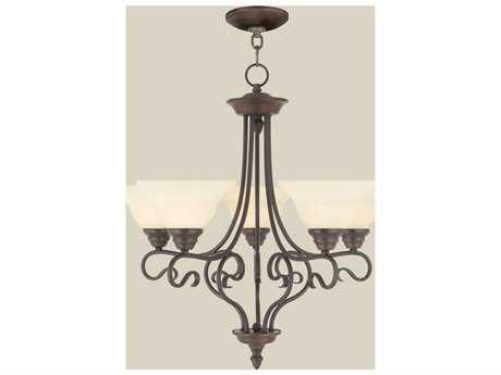 Livex Lighting Coronado Imperial Bronze Five-Light 25.5'' Wide Chandelier LV611558