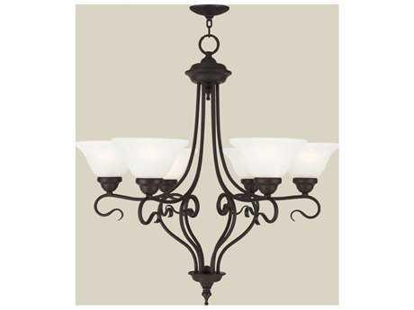 Livex Lighting Coronado Bronze Six-Light 28.5'' Wide Chandelier LV612607